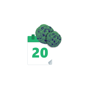 Increased sales opportunities with 20-day cookies - icon