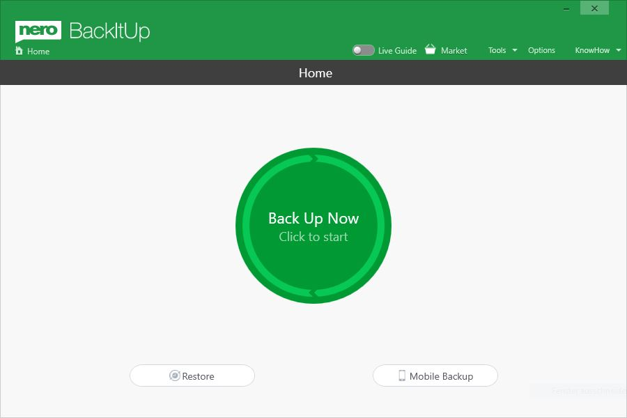 With Nero BackItUp you can easily create backups of computers or mobile devices and restore them.