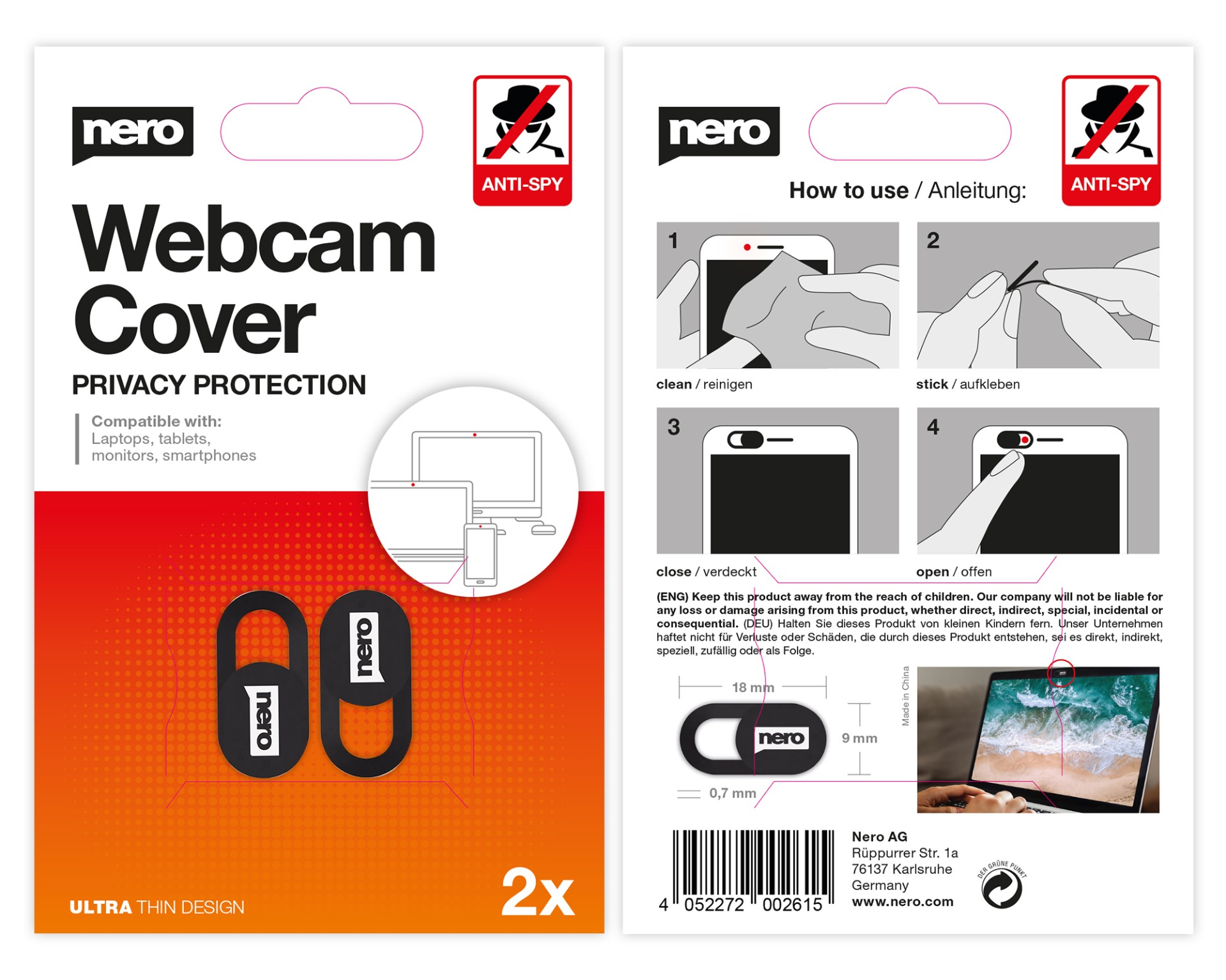 Nero Webcam Cover