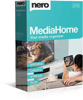 Nero MediaHome 2019 box