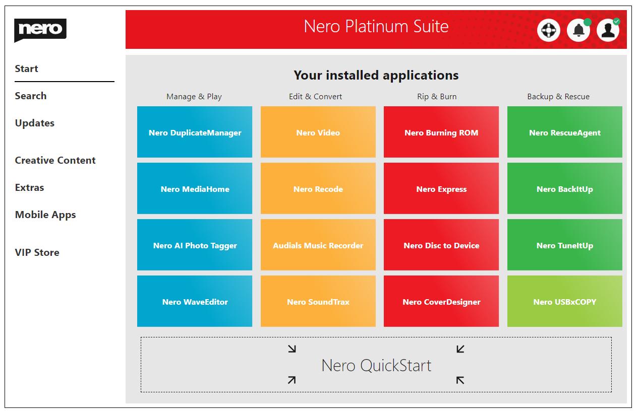 Nero Platinum Suite 2021 - Logiciels, Matériel et Téléchargements